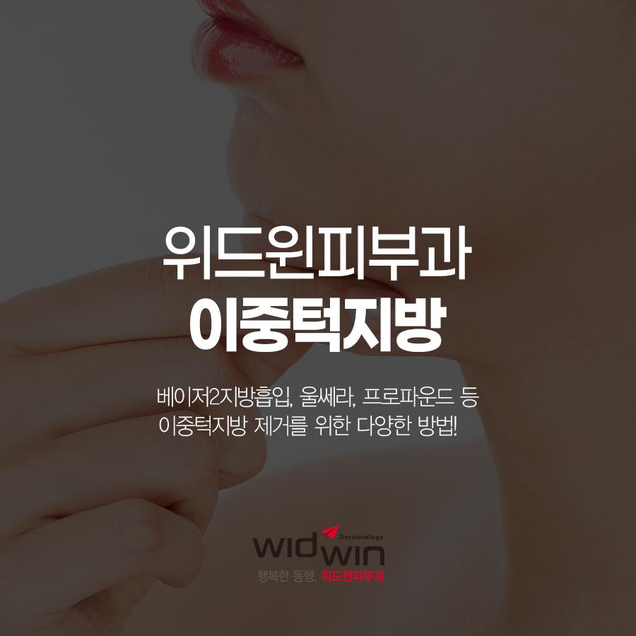 이중턱지방흡입,이중턱지흡,턱지흡,울쎄라,프로파운드,베이저2지방흡입,강남지방흡입,압구정지방흡입,위드윈피부과,피부과전문의
